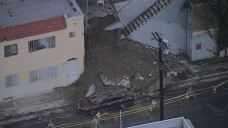 Wall Collapses Onto Vehicle in Echo Park; No One Injured