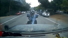 Dashcam Captures a Confrontation Between SUV Driver and Motorcyclists