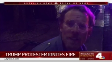 California Man Sets Fire to Protest Trump