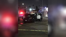 Officers Injured After Crashing Into Hydrant, Flipping Cruiser in South LA