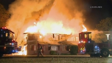 Fire Burns Buildings at Rehabilitation Center Built in 1800s