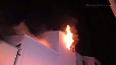 Fullerton Condo Fire Injures Firefighter