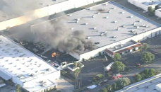 Santa Fe Springs Fire Sends Smoke Into the Sky