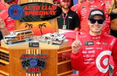 Kyle Larson Hangs on to Win at Fontana
