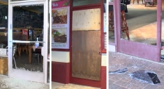 Restaurant Windows Shattered in 4 Break-Ins