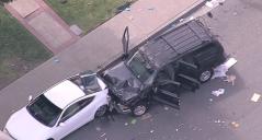 Man Shot in Pomona Crashes into Vehicles