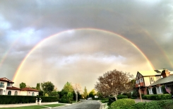 Images: Double Rainbow Spotted in SoCal
