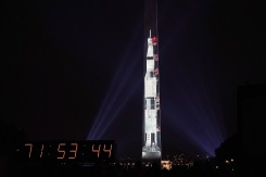 Washington Monument Transforms Into Saturn V Rocket