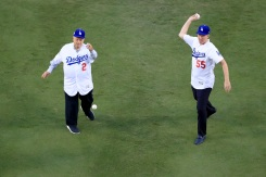 Ceremonial First Pitches at Dodger Stadium