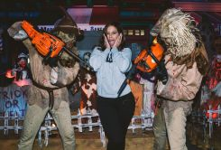 Celebrities at Universal Studios' 'Halloween Horror Nights'