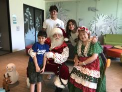 Pasadena Children's Hospital Brings Christmas Spirit in July