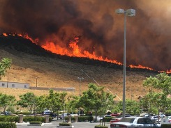 Photos of the Santa Clarita Wildfire From Around SoCal