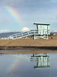 Rainbows Grace LA Skies After Rainfall