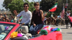 NBC4's Mario Solis and Kathy Vara Participate in the Mexican Independence Day Parade