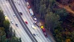 SB 101 Lanes Closed After Big Rig Crash