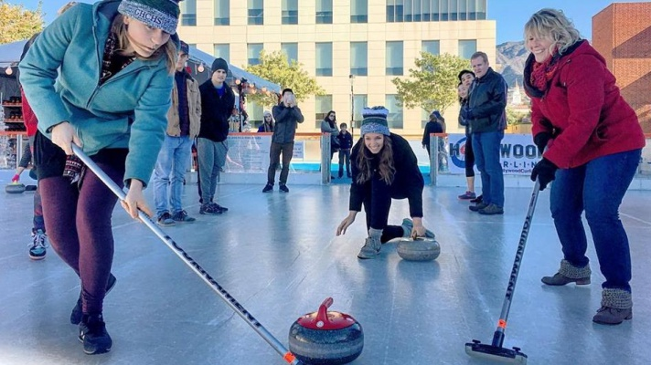 The Rink in Downtown Burbank is ready to spin, glide, and curl over the holidays. Opening day? Lace up on Thursday, Dec. 13.