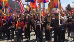 Thousands in LA March for Recognition of Armenian Genocide