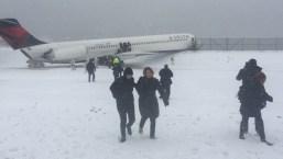 Plane Slides Off Runway at LaGuardia