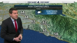 AM Forecast: Scattered Showers Across Los Angeles