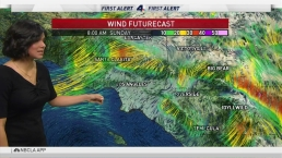 AM Weather: Lighter Winds Offer Fire Relief