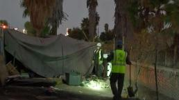 Crews Clean Up Homeless Encampment
