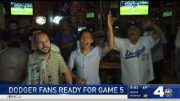 Dodgers Fans Hopeful for Game 5