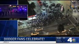 Fans Crowd East LA Streets After Dodgers Advancement
