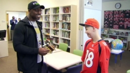WATCH: Denver Broncos Player Surprises Fan Undergoing Cancer Treatment at Stanford