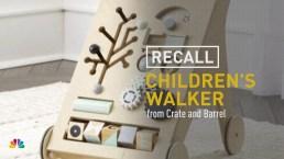 Crate and Barrel Recalls Children's Walker