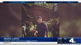Mario Lopez's LA Backyard Destroyed in Storm