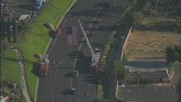 Watch: Procession for Slain CHP Officer Moye Arrives at Church
