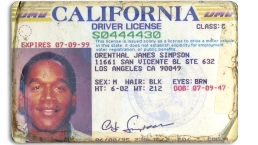 Auction: OJ Simpson's ID, Issued During Murder Trial