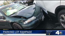 Out-of-Control Driver Smashes Parked Cars in Irvine