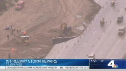 Traffic Moving Again as Crews Make Repairs to 15 Freeway
