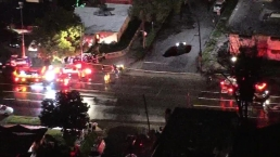 Two Cars Plunge Into Studio City Sinkhole