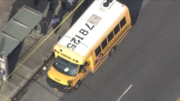 Chopper 4 Shows Flood of Law Enforcement Respond to Gunfire Near NYC School