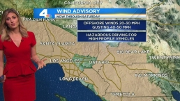 Santa Ana Winds Kick In, Boost Warm Temps