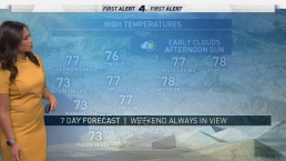AM Forecast: Below-Average Temps With A Chance of Showers