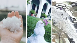 First Day of Spring Welcomed by SoCal Hail