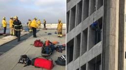 Crowd Cheers as Dangling Window Washer Rescued in Orange County
