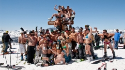 Skiers in Bikinis Hit Mammoth Slopes in the Summer