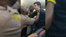 Police Use Stun Gun on Unruly Man Being Removed From Flight