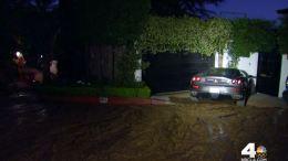Hydrant Break Floods Hollywood Hills Neighborhood