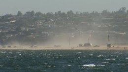 High Winds in Mission Bay San Diego