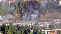 Brush Fires Slow Drive on 118 Freeway