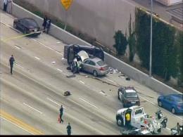 Images: Officer Struck in 405 Crash