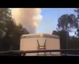 Viewer Shoots Video as He Evacuates Fairbanks Ranch