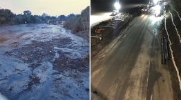 Before and After: Mud, Debris Cleared From Highway 101