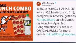 Little Caesars to Serve Free Pizza After March Madness Upset