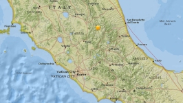 2nd Powerful Temblor Rattles Italy After 5.4 Earthquake
